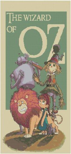 Wizard of Oz Cross Stitch EPattern by jpcrossstitch on Etsy, $3.95