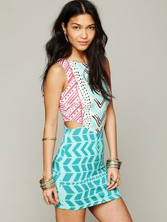 Mara Hoffman Luau Print Cutout Bodycon at Free People Clothing Boutique