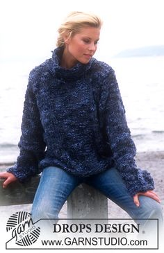 DROPS Pullover Free pattern by DROPS Design.