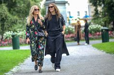 Joanna Fingal & Caroline Sandströms Blasiak  #streetstyle #fashion #streetfashion #street #mode #moda #stockholm #lifestyle #woman #stylish #stylisy #black #fashionable #fashionweek #shoes #bag