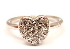 Gorgeous Pomellato Dodo Cuoricini 18K White Gold 20 CTW Diamond Heart Ring | eBay