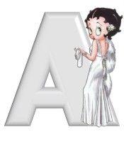 Alfabeto de Betty Boop elegante.
