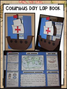 Lesson Plan Objective: Students will create a Columbus Day Lap Book based on all they have learned about Christopher Columbus. Columbus School, Columbus Day, Social Studies Lesson Plans, 4th Grade Social Studies, Christoffel Columbus, 1st Grade Crafts, Homeschool Curriculum, Craft Activities, School Projects