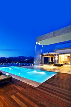 Spanish Villa, Pool and Water feature