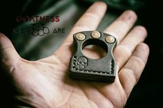 Voya Ring. Oldscool leather keyring : by GOATNESSLeather on Etsy