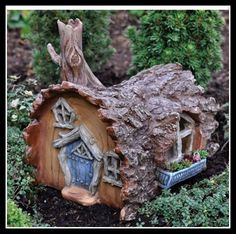 Fairy garden log house