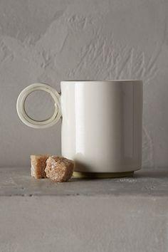 Color-Slipped Espresso Mug #anthropologie. Love the handle. A lot.
