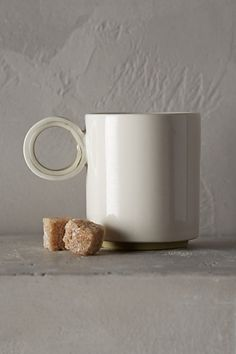Color-Slipped Espresso Mug #anthropologie. Love the handle. A lot.