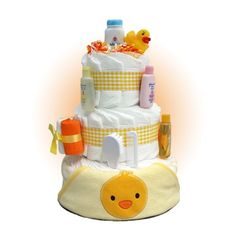 Rubber Ducky 3-Tier Baby Shower Diaper Cake