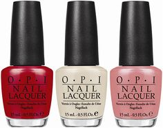 OPI Nail Lacquers in (L-R) Coca-Cola Red, You're So Vain-illa & Sorry I'm Fizzy Today, from the OPI Coca-Cola Collection for Summer 2014