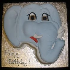 cute elephant birthday cake for Zoey Elephant Birthday Cakes, Elephant Cakes, Animal Birthday, 2nd Birthday Parties, Happy Birthday, Birthday Ideas, Groundhog Day, Elephant Love, Zoo Animals