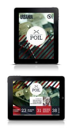 Urbania | Magazine iPad by Isabelle Poulin, via Behance
