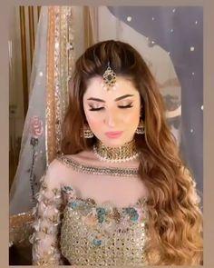 Bridal Makeup Images, Beautiful Bridal Makeup, Best Bridal Makeup, Asian Bridal Dresses, Indian Bridal Outfits, Pakistani Wedding Dresses, Minimal Wedding Dress, Pakistani Bridal Makeup, Beautiful Dress Designs