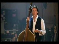 Paul McCartney on upright bass and vocal playing the Elvis tune 'Heartbreak Hotel' with Bill Black's original upright bass. Three legends in one you dare to ask?