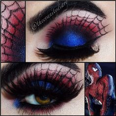 Spider-man inspired makeup.