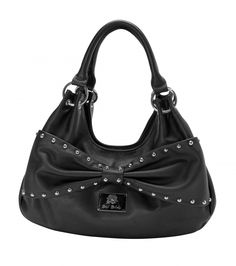 Metal Mulisha Maidens Leather Kiss Purse. Metal Stud detail.