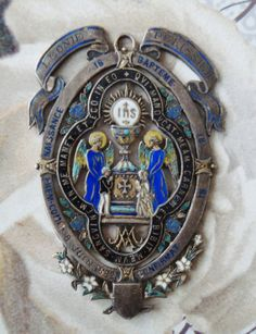 Antique Religious Medal Dated 1882 by religiousmedals on Etsy, $199.99