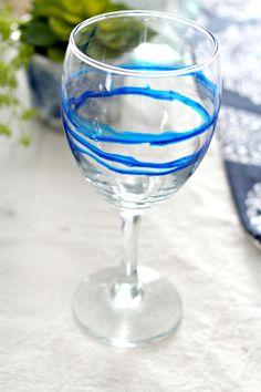 Dollar Store Hack: Beautiful Alcohol Ink Glasses