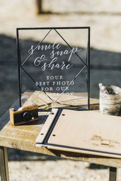 After a year of virtual weddings, elopements, and backyard ceremonies, 2021 couples are ready to ditch the technology and be present with loved ones on their special day. Unplugged weddings are all the rage, and it's a great way to connect in person and enjoy unforgettable moments without distraction. See more rustic wedding inspiration at rusticweddingchic.com | Photo: Verstyle Photography Rustic Wedding Guest Book, Rustic Wedding Inspiration, Rustic Wedding Venues, Wedding Programs, Wedding Ceremony, Wedding Invitations, Wedding Bells, Fall Wedding, Wedding Shit
