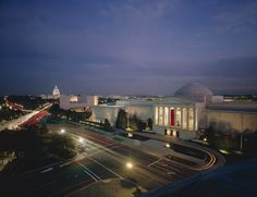The collection at the National Gallery of Art has grown so large that it is displayed in two galleries, the neoclassical West Building and the severely modern East Building, and a six acres sculpture building.