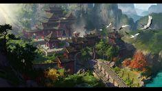 ArtStation - China Taoist temple2, Dawn Pu