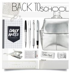 """in my backpack"" by friendlyfebruary ❤ liked on Polyvore featuring interior, interiors, interior design, home, home decor, interior decorating, Kate Spade, Kin by John Lewis, Chantecaille and Cross"