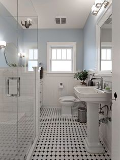installing beadboard wainscoting bathroom victorian with prairie style ambient vanity lights Victorian Toilet, Victorian Bathroom, Victorian Farmhouse, Bathroom Vintage, Modern Victorian, Classic Bathroom, Modern Bathroom, Master Bathroom, Zen Master
