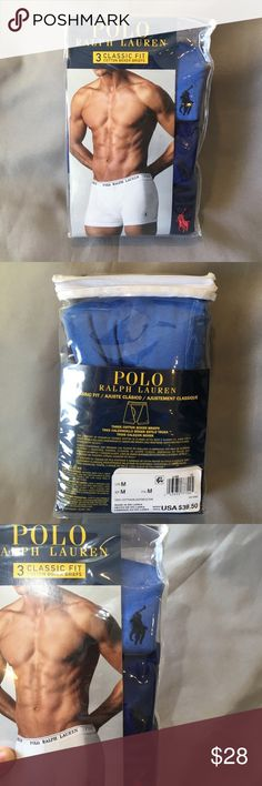 NWT Polo Ralph Lauren 3 Pack of Blue Boxer Briefs NWT Polo Ralph Lauren 3 Pack of Blue Boxer Briefs. Light blue, medium blue and navy blue. Classic fit. Please see other colors and listings if you'd like to buy more than one!  Thanks! Polo by Ralph Lauren Underwear & Socks Boxer Briefs