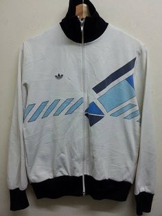 Sale Vintage Adidas Ventex Trefoil Style by SuzzaneVintage Vintage Adidas, Diy Shirt, Outerwear Jackets, Adidas Jacket, 1970s, Tees, Shirts, Vintage Graphic, Retro