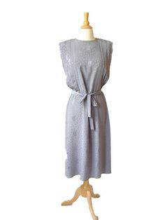 Vintage 70s silver grey dress.