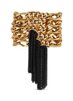 ELA STONE 'Amy' metal tassel multi chain bracelet
