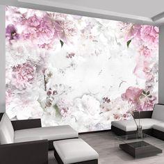 Dancing Peonies Semi-Gloss Paste the Wall Mural 3d Wallpaper Mural, Photo Wallpaper, Designer Wallpaper, Pattern Wallpaper, Standard Wallpaper, Pink Rose Flower, Weaving Art, Room Colors, Picture Wall
