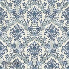 Rasch Textil Waverly Small Prints 23-326986 blaues Ornament