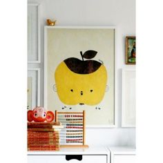 Jut en Juul Lifestyle for Kids : Poster Fine Litte Day - Apple Papple appel geel