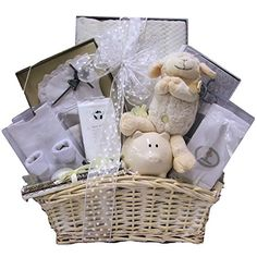 Send your blessings for the baby girl's christening with this elegant gift basket. Filled with wonderful gift items like a silver cross presented in a satin gift box, crocheted booties and more. Baby Girl Gift Baskets, Baby Girl Gifts, Baptism Gifts, Christening Gifts, Baby Girl Christening Outfit, Babies First Christmas, Easy Gifts, Special Gifts, Gifts For Her