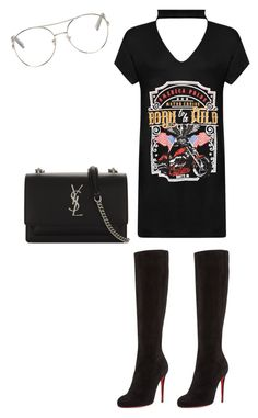 """Untitled #56"" by miraclemitchell on Polyvore featuring WearAll, Christian Louboutin, Chloé and Yves Saint Laurent"
