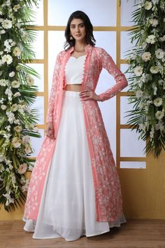 Buy wedding lehenga choli online buy all latest design. This deserving faux georgette designer a line lehenga choli for festival, party and reception. Party Wear Indian Dresses, Indian Gowns Dresses, Dress Indian Style, Party Wear Lehenga, Indian Wedding Outfits, Indian Outfits, Designer Party Wear Dresses, Gown Party Wear, Bridal Lehenga