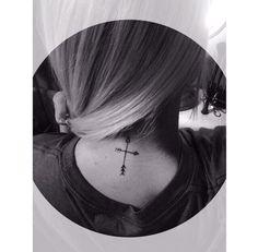 My arrow cross mini tattoo