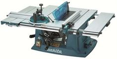 Makita Table Saw Description:- - Sliding left extension sub-table is provided. - Right and rear extension table enables greater cutting capacity. - Safety guard is installable and removable without tool. - On-tool storage for accessories is provided.