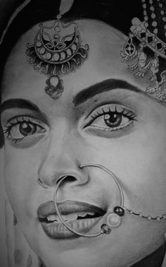 Each & Every Single Sketch Of The Multi-Faceted & Versatile DEEPIKA PADUKONE Is An Apt Reflection  Of The Mood & Moment Captured On The Canvas Of The Maverick Artist RANJIT Urff RANJU!! Pencil Sketch Portrait, Pencil Sketch Drawing, Pencil Shading, Girl Drawing Sketches, Portrait Sketches, Portrait Art, Pencil Drawings Tumblr, My Drawings, Unique Drawings