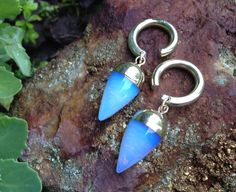 Hey, I found this really awesome Etsy listing at https://www.etsy.com/listing/234692048/opalite-pendulum-ear-weights-light
