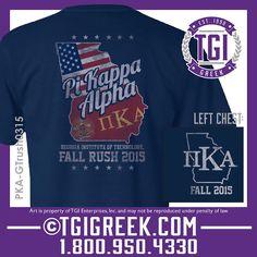 TGI Greek - Fall Rush - Pi Kappa Alpha - Greek T-shirt 0 Fraternity Recruitment #tgigreek #pikappaalpha