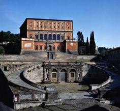 Villa Farnese, Caprarola, Lazio, Italy      Architetto / Architect: Jacopo Barozzi, detto il (known as) Vignola (1507-1573)     Costruzione / Building: 1550-1573     Stile / Style: rinascimento e manierismo / Renaissance and Mannerism