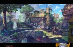 Town concept: days of dawn by TylerEdlinArt on DeviantArt