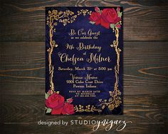 Printable Enchanted Rose Beauty And The Beast Wedding Invitation Be