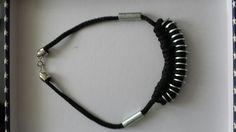 Collier corde et rondelles (ma création)