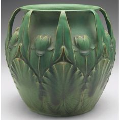 Image result for vintage footed ovoid green ceramic vase planter oriental motif