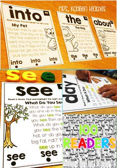Sight word fluency made easy with sight word readers.