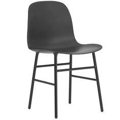 Normann Copenhagen Form Chair - Stoel - Wit met stalen onderstel