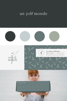 A gorgeous logo, branding and packaging for a playful and cute brand and business. Love the sweet and rustic floral patterns that are used on the box design and stationery. The dusty blue and grey color palette makes for a dreamy brand look. Branding Design, Logo Design, Logo Branding, Brand Identity, Stationery Companies, Composition Design, Graphic Design Tips, Pause, Brand Board